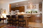 high top kitchen counters with stools