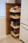 pull out cabinet pantry in kitchen