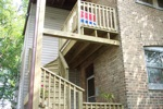 two story porch in chicago backyard